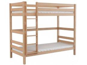 Patrová dřevěná postel Scarlett SOFIE - přírodní (buk) - 200 x 90 cm