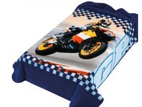 Španělská deka 222 - modra, 160 x 220 cm