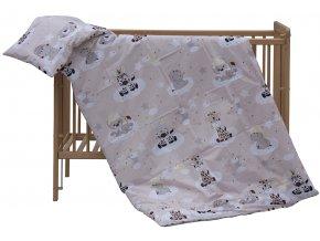 Dětské povlečení 2dílné Scarlett Zebra - béžová 100 x 135 cm