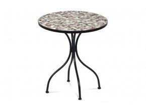 Zahradní stůl, deska z keramické mozaiky, kov, černý lak (designově k židli JF2207)