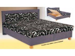 Postel Jitka  Moderní postel spolohovacím lamelovým roštem