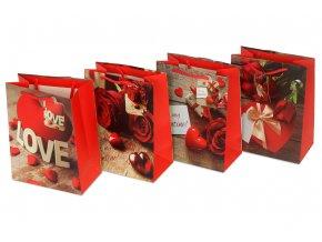 Taška dárková papírová, mix 4 dekorů