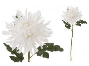 Chryzantéma , barva smetanová. Květina umělá.