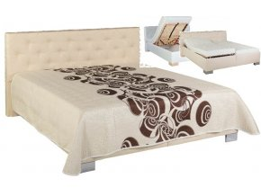 elegantní postel JOLANDA  dvoulůžko s volně loženými matracemi