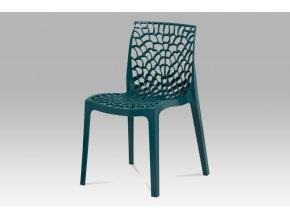 Jídelní židle, petrolejová, CT-820 PET