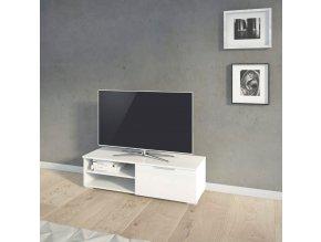 TV stolek Mateo 066 bílý lesk
