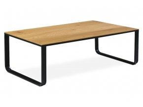 Konferenční stolek 105x55x33, CT-1017 OAK, MDF divoký dub, kov černý mat