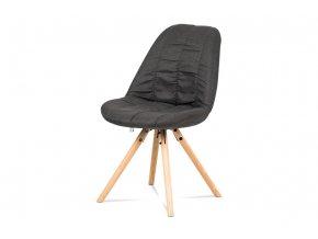 Jídelní židle, šedá látka, masiv dub, CT-121 GREY2