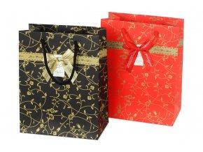 Taška dárková papírová, mix 2 druhů, cena za 1 kus