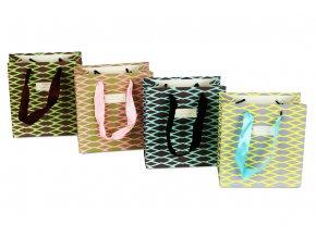 Taška dárková papírová, mix 4 druhů, cena za 1 kus