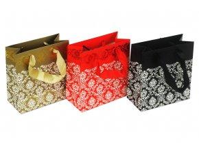 Taška dárková papírová, mix 3 druhů, cena za 1 kus