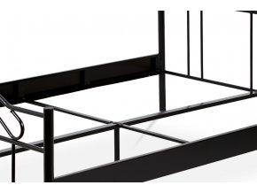 Postel dvoulůžková, 140x200, kov černý mat