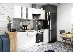 Kuchyně EKO II 200 cm bílá