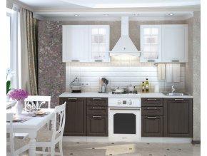 Kuchyně PRAGA 180 bílá/wenge