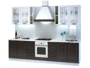 Kuchyně PRAGA 280 I bílá/wenge