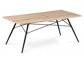 Konferenční stolek 122x61x49, MDF dub San Remo, kov černý mat