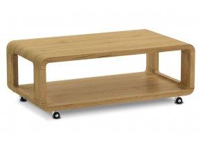 Konferenční stolek 105x60x38, MDF divoký dub, 4 kolečka