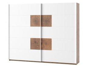 Šatní skříň 2-dveřová LIVORNO 72 dub wotan/bílá