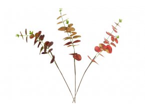 Eukalyptus, mix 3 podzimních barev. Květina umělá.