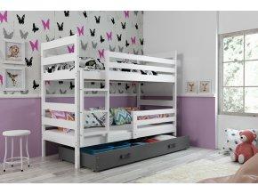 Patrová postel Norbert bílá/grafit