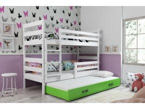 Patrová postel s přistýlkou Norbert bílá/zelená