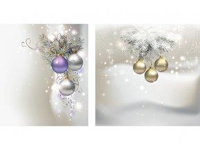Taška dárková papírová malá, vánoční motiv, mix dvou dekorů