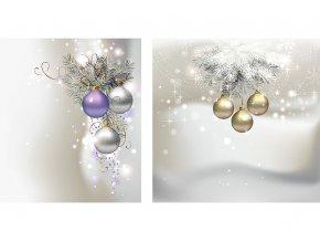 Taška dárková papírová střední, vánoční motiv, mix dvou dekorů