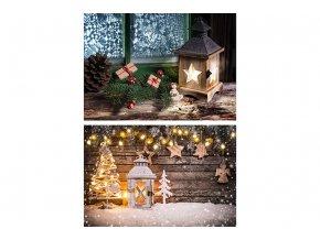Taška dárková papírová malá, vánoční motivy