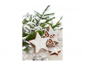 Taška dárková papírová střední, vánoční motivy, mix dvou dekorů