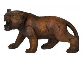 Dřevořezba - Tigr 30cm (mahagonové dřevo)