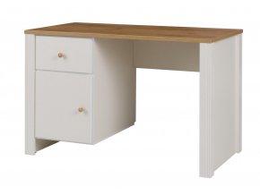Psací stůl Bacardi R6 dub zlatý/crem