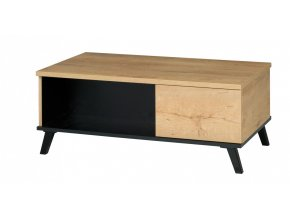 Konferenční stolek Jocker R8 dub lefkas/černá