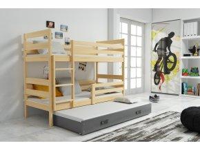 Patrová postel s přistýlkou Norbert borovice/grafit