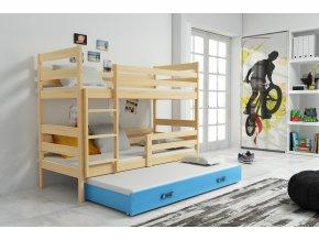 Patrová postel s přistýlkou Norbert borovice/modra