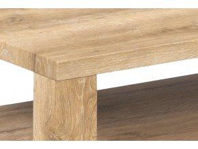 Konferenční stolek 100x60x42, MDF bělený dub