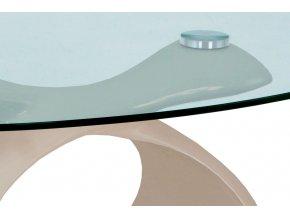 Konferenční stolek 90x55x44 cm, AHG-226 CAP, cappuccino vysoký lesk, čiré sklo