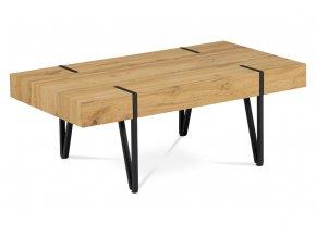 Konferenční stolek 110x60x42, AHG-233 OAK, MDF divoký dub, kov černá matná