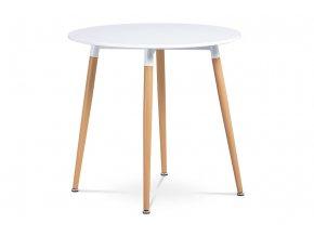 Jídelní stůl pr.80 cm, bílá matná DT-608 WT