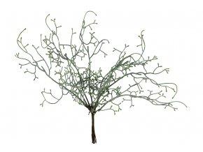 Drátovec zelený ojíněný, umělá květina