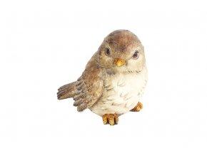 Ptáček, dekorace z polyresinu