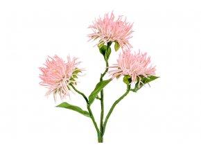 Chryzantéma, barva bílá ojíněná. Květina umělá.