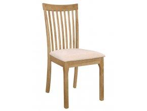Jídelní čalouněná židle LIPTOV dub/krém