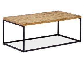 Konferenční stolek 110x60x43, deska MDF dekor divoký dub tloušťka 35mm, kov černý mat