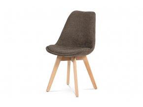Jídelní židle, hnědá látka, masiv přírodní, CT-555 BR2