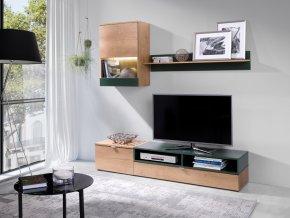 Obývací stěna Robin lefkas/zelená