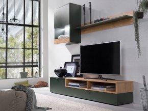 Obývací stěna Robin zelená/lefkas
