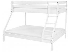 Patrová dřevěná postel Scarlett Monfi (buk) bílá - 140 x 200 cm / 90 x 200 cm
