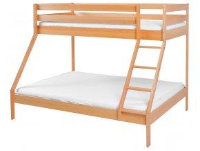 Patrová dřevěná postel Scarlett Monfi (buk) přírodní - 140 x 200 cm / 90 x 200 cm