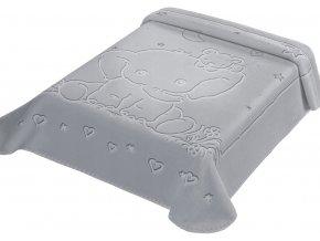 Španělská deka LUX 535 - šedá, 80 x 110 cm