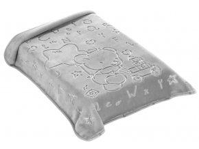 Španělský pytel do autosedačky 521 - šedá, 80 x 90 cm